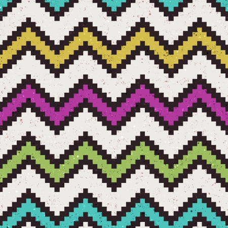 seamless pixelated chevron pattern Stock Vector - 24645773