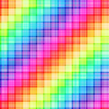 seamless rainbow grid pattern Vector