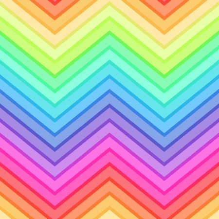 seamless rainbow chevron pattern Vector