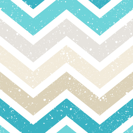 and turquoise: seamless grunge chevron pattern