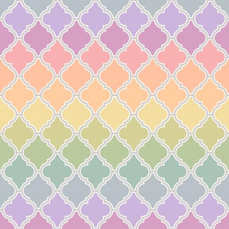 naadloze islamitisch patroon met pastel kleuren