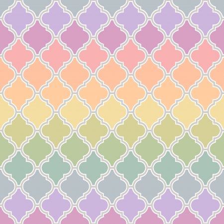 seamless islamic pattern with pastel colors Çizim