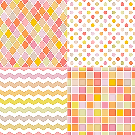 seamless soft multicolor pattern Vector