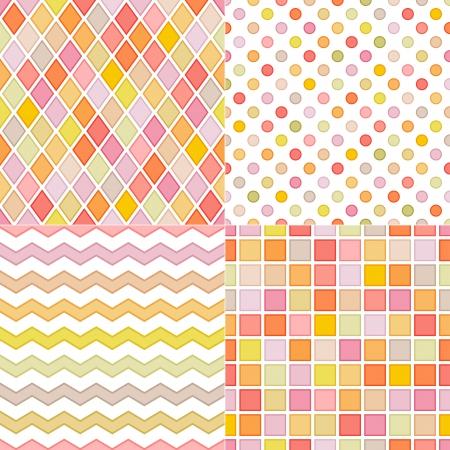 rhombus: seamless soft multicolor pattern