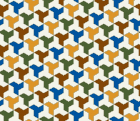 lattice: seamless islamic tiles pattern