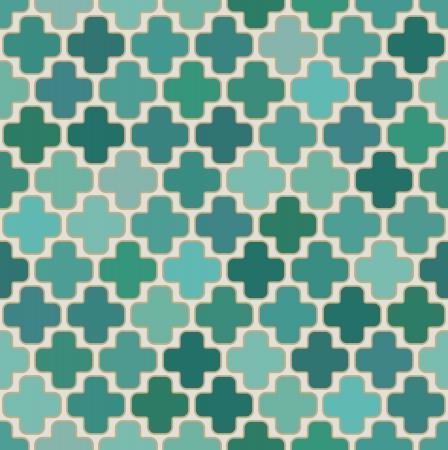 seamless islamic cross geometric pattern Vector