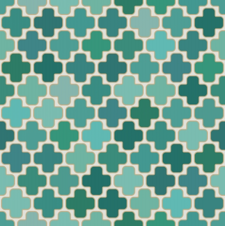 lattice: seamless islamic cross geometric pattern