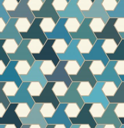 hexagonal: seamless islamic tiles pattern
