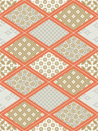 traditional silver wallpaper: seamless japanese traditional quilting pattern Illustration