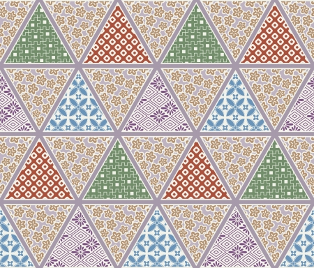 seamless japanese traditional quilting pattern 向量圖像