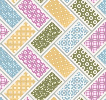 Naadloze Japanse traditionele quilten patroon Stock Illustratie