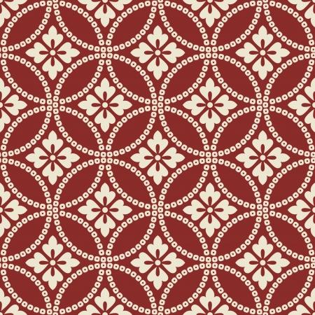 flower patterns: naadloze Chinese stijl weefsel patroon
