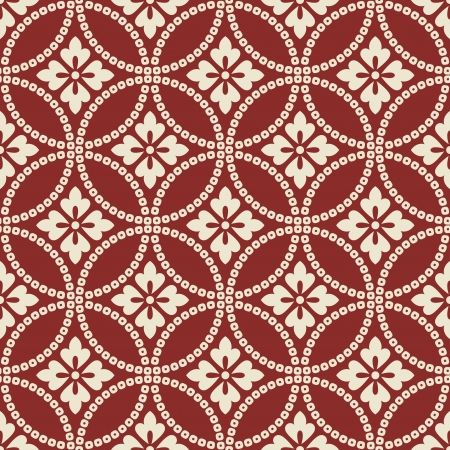 tile pattern: seamless chinese style fabric pattern Illustration