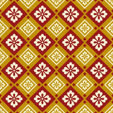 seamless chinese style fabric pattern Stock Vector - 24750528