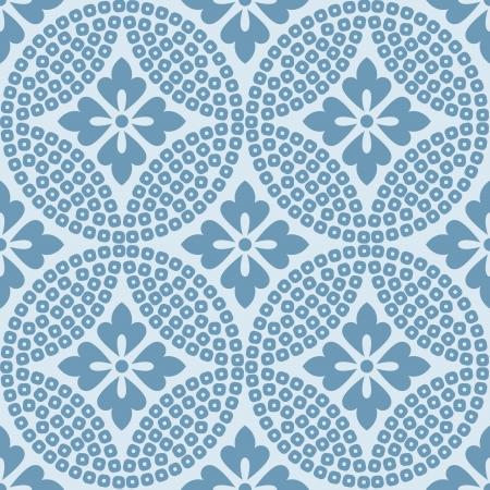 seamless japanese floral geometric pattern Stock fotó - 24800387