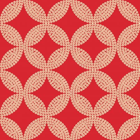 seamless japanese circles geometric pattern Vector