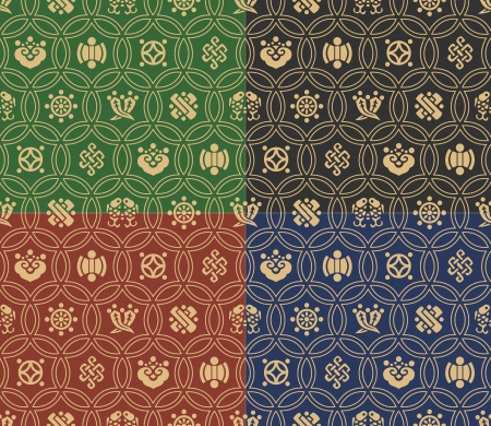 seamless traditional japanese background Vector
