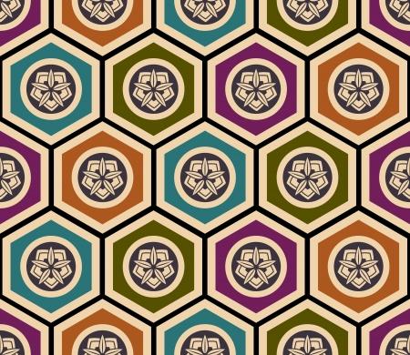 Seamless japonais motif géométrique floral Banque d'images - 24800390