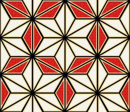 hexagonal: seamless japanese style asanoha fabric background