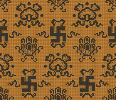 auspicious: seamless chinese  swastika , auspicious symbol background