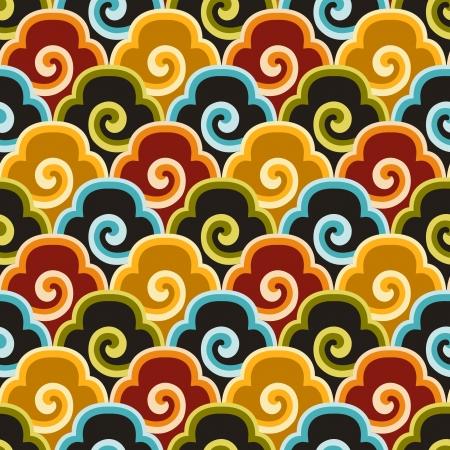 patrón de fondo de tela sin costuras chino