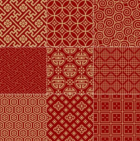 원활한 전통적인 경사스러운 중국어 메쉬 패턴 일러스트