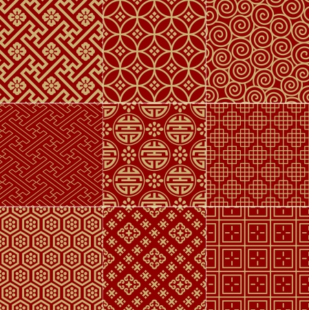traditional chinese: seamless traditional auspicious chinese mesh pattern  Illustration