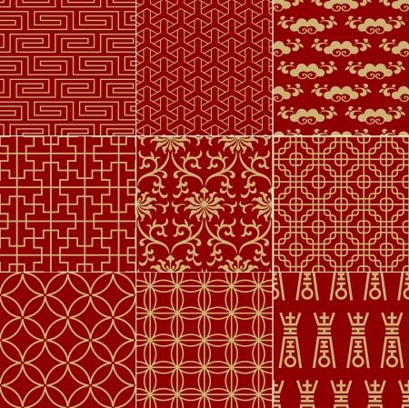 patrón de malla sin costuras tradicionales auspicioso chino