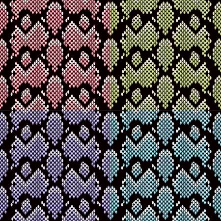 seamless snake skin texture background  Vector