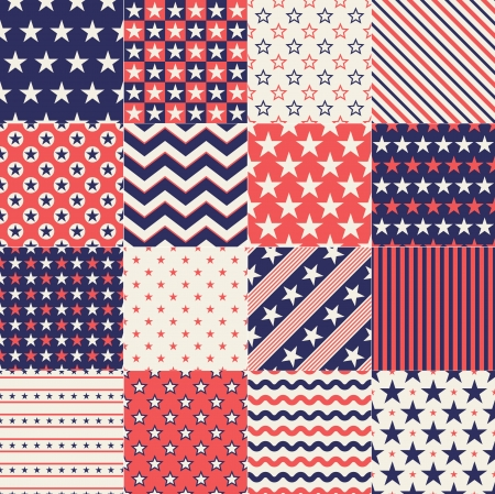 seamless stars independence day background  Illustration