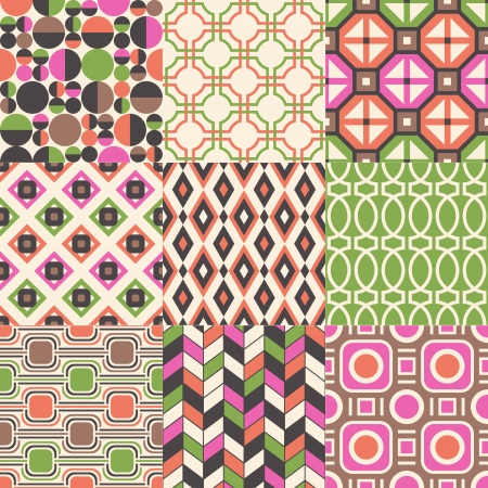 seamless abstract geometric pattern  向量圖像