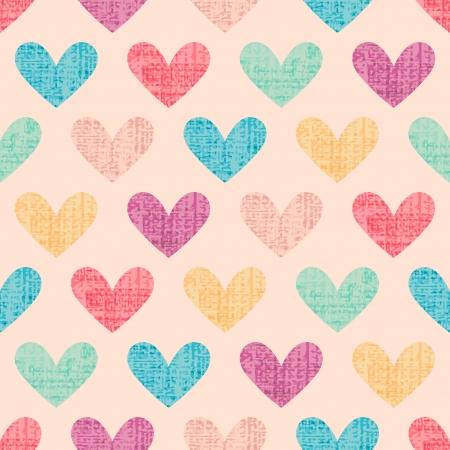 mode retro: naadloze hart patroon achtergrond