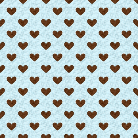 seamless textured heart background Vector