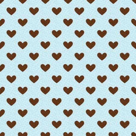 seamless textured heart background Vector