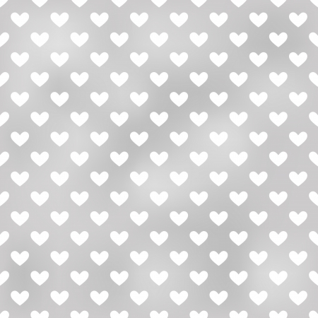 seamless grey heart textured background  Vector