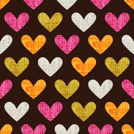 Seamless cuore pattern di sfondo Archivio Fotografico - 25249634