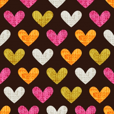 seamless heart pattern background  Vector