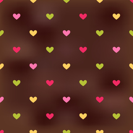 seamless heart pattern background Stock Vector - 25249636