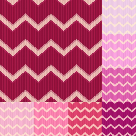 seamless red and pink stripes background set
