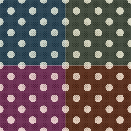 cerulean: seamless polka dots pattern