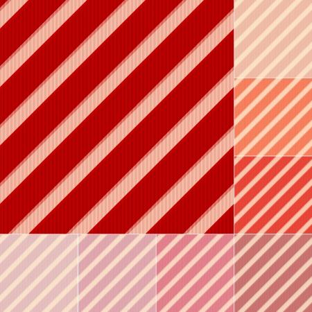 pink salmon: seamless red and orange stripes background set