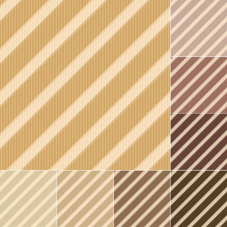 diagonal lines: seamless brown, earth tone stripes pattern Illustration