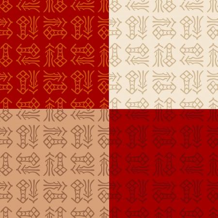ideograph: chinese  Fu   good luck, happiness  seamless pattern  Illustration