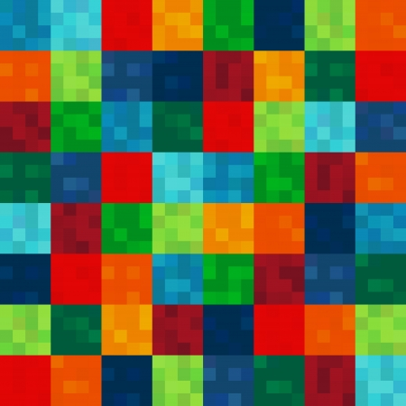 seamless colorful squares pattern Vector