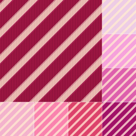 seamless red pink diagonal stripes pattern Vector