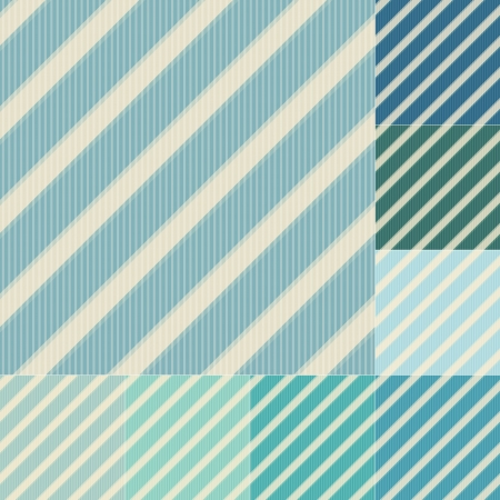 seamless green blue diagonal stripes pattern Vector