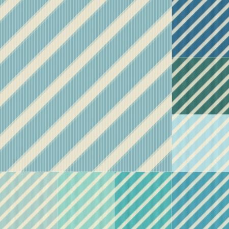 cadet blue: seamless green blue diagonal stripes pattern Illustration