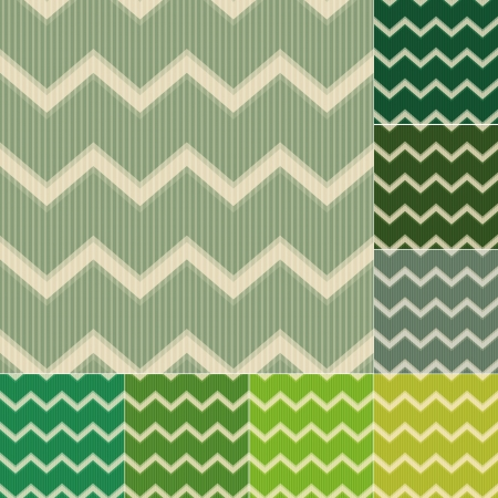 seamless green chevron pattern Vector