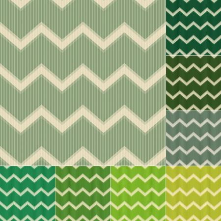 seamless green chevron pattern Vector
