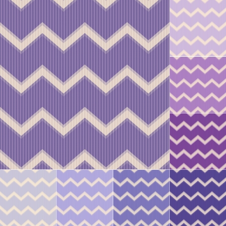 seamless purple violet chevron pattern Vector
